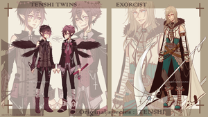 [CLOSED] adopt Tenshi Twins + Exorcist by aritsuneart