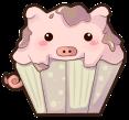 Piggykins Cupcake by Gasara