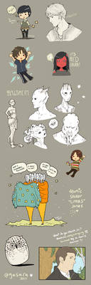 Miscellaneous Sketchdump by Gasara