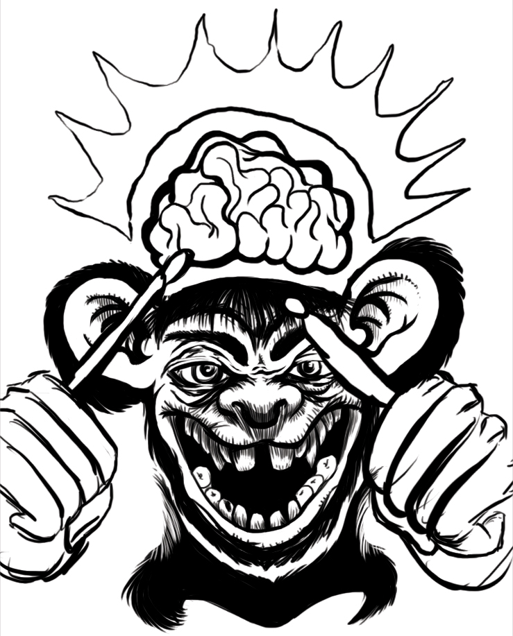 07 10 2012 Daily Draw Monkey Thing By LineDetail
