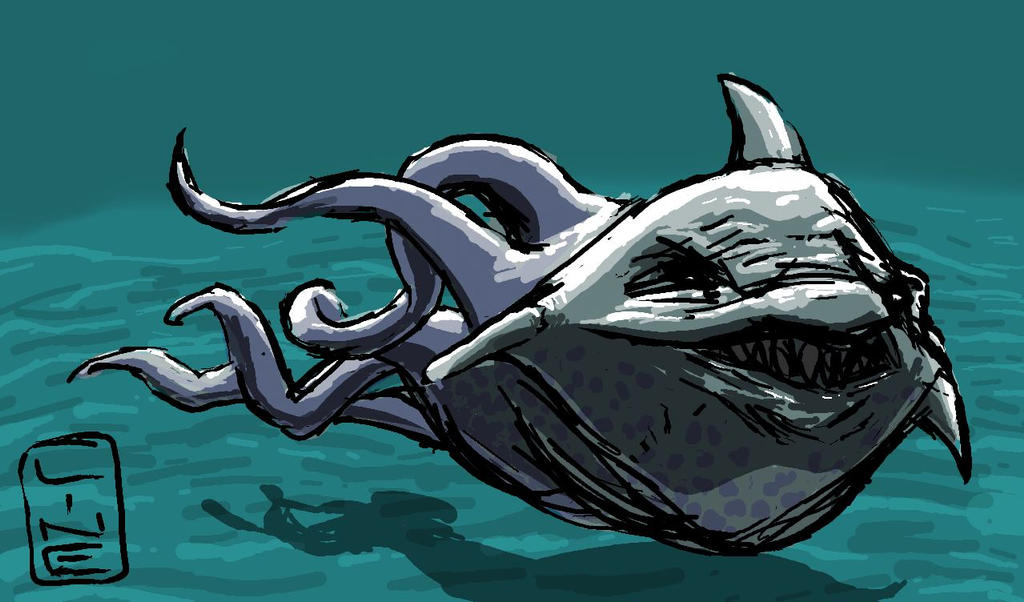 Sharktopus by Veronica  Simple Desktops