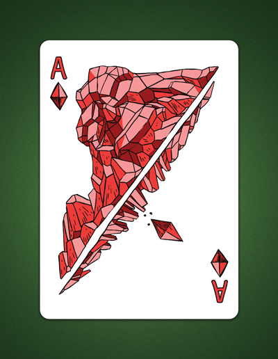 My Ace of Diamonds aka Ace Of Earth Drawing by LineDetail