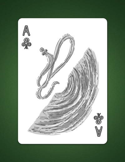 Drawing of my Ace Of Clubs aka Ace of Air by LineDetail