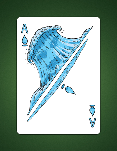 my drawing of the ace of spades aka ace of water by LineDetail