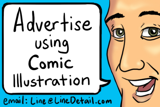 Advertise Using Comic Illustration by LineDetail