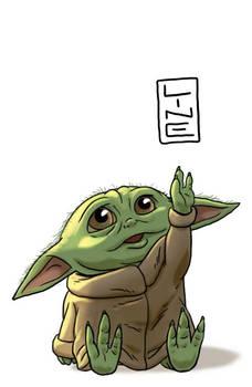 Baby Yoda drawn by Line