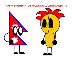 Happy Birthday To Syronjoson And Lollydialand!!!!! by AishaDahlia