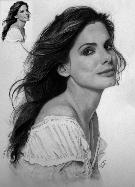 Sandra Bullock by Gutierrez-valeria