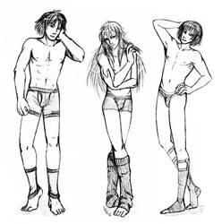 underwear model triplets by nambnb