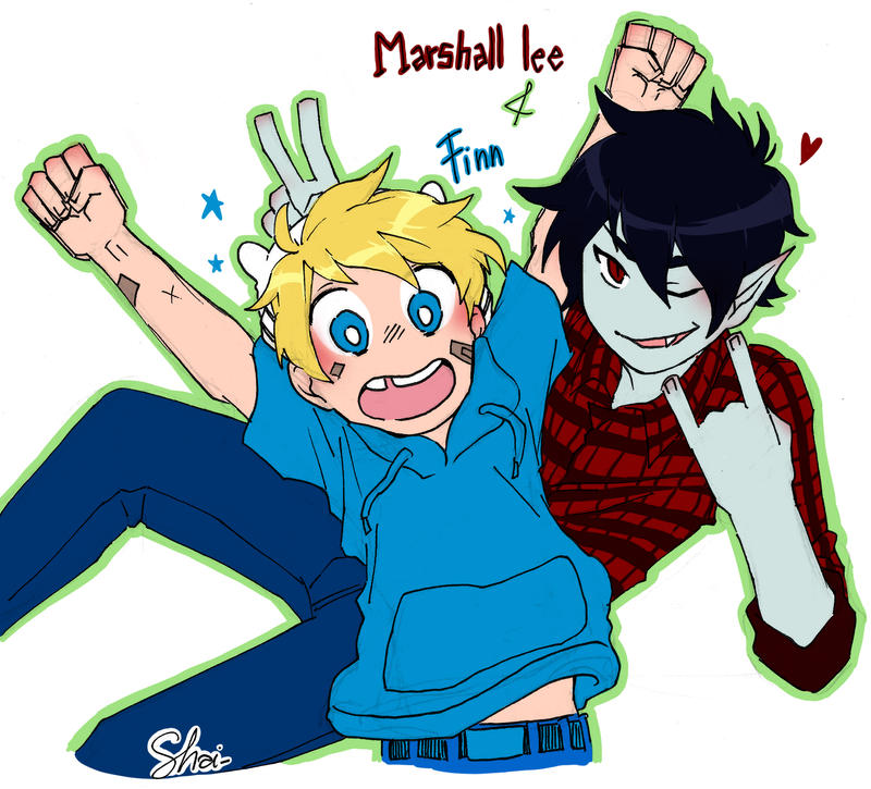 Adventure Time Marshall Lee And Finn
