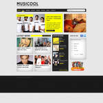 Music magazine webdesign