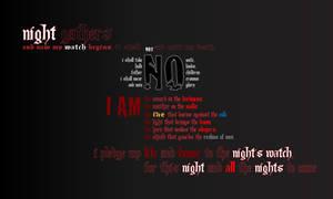 Night's Watch Desktop Walpaper by Kitsufox