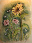 Sunflower-Carnations-Watercol.