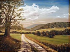 Oil painting of 'Vesele'