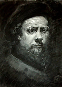 Rembrandt Self Portrait study- Charcoal