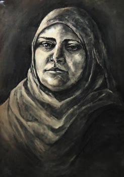 Self Portrait study-Charcoal