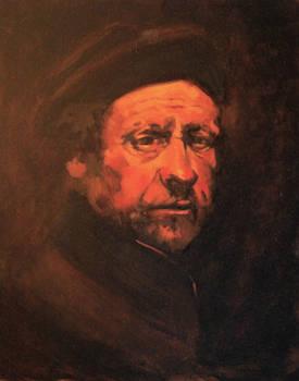 Rembrandt self portrait - study in Oil 2