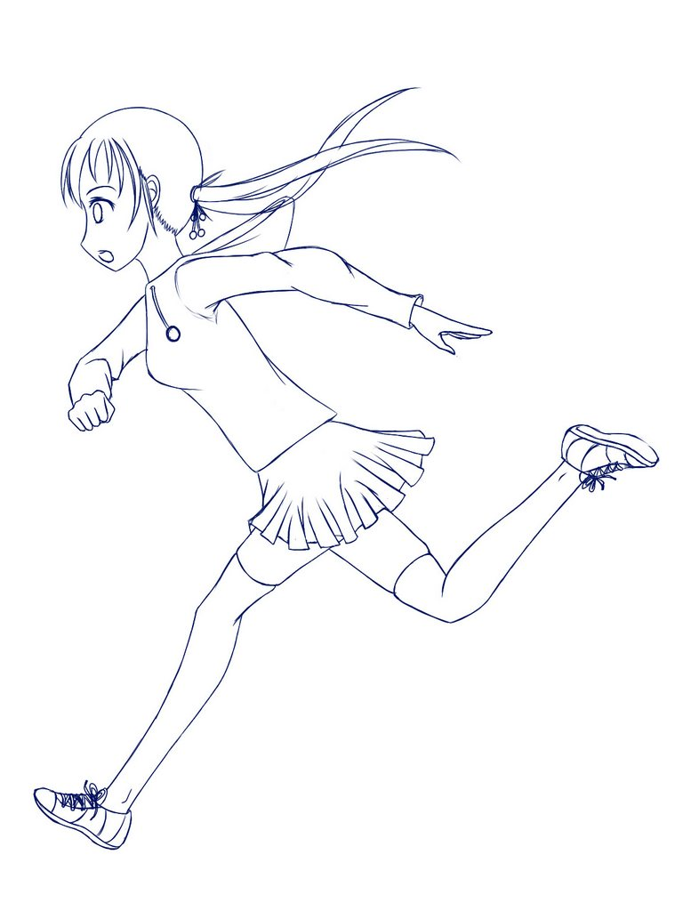 How To Draw Running Girl