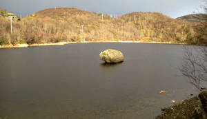 a rock ON the water?