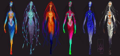 Catwalk-Alien Colour-Roughs by Nicksketch