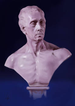 Study of a Marble Bust