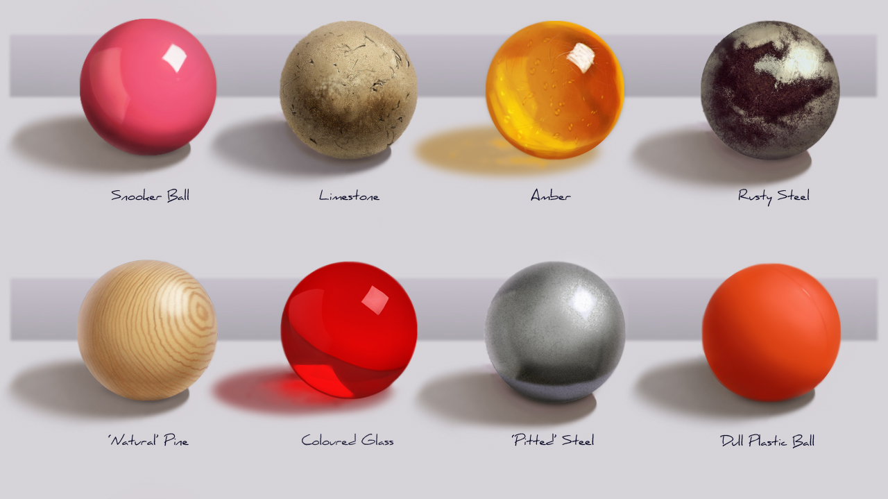 how to draw glass texture digitally