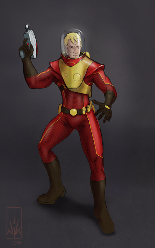 Space Ranger Concept Art by Nicksketch
