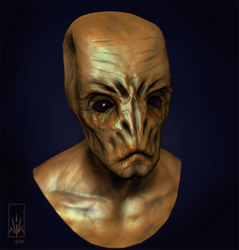 Alien Concept Bust by Nicksketch