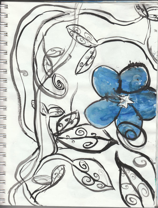 clip art flowers vines. clip art flowers vines. Blue