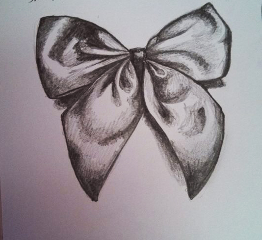 bow drawing - Google Search | Tattoos and piercings ...  |Bow Tattoo Sketches