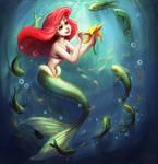 Ariel -- Coloring Page