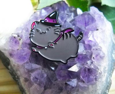 Witch Cat Enamel Pin by Jiiri