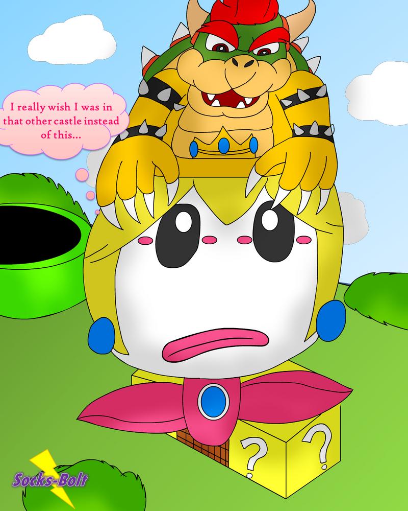 Peach's Odd Odyssey - Princess Peach Clown Car TF by Socks-Bolt
