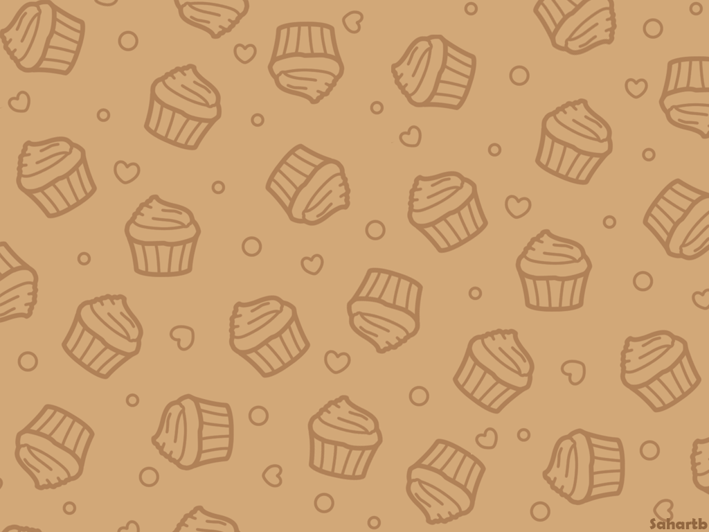 Cupcake Wallpaper Brown By Sosogirl123 On Deviantart
