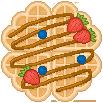 Pixel Art Waffle by sosogirl123