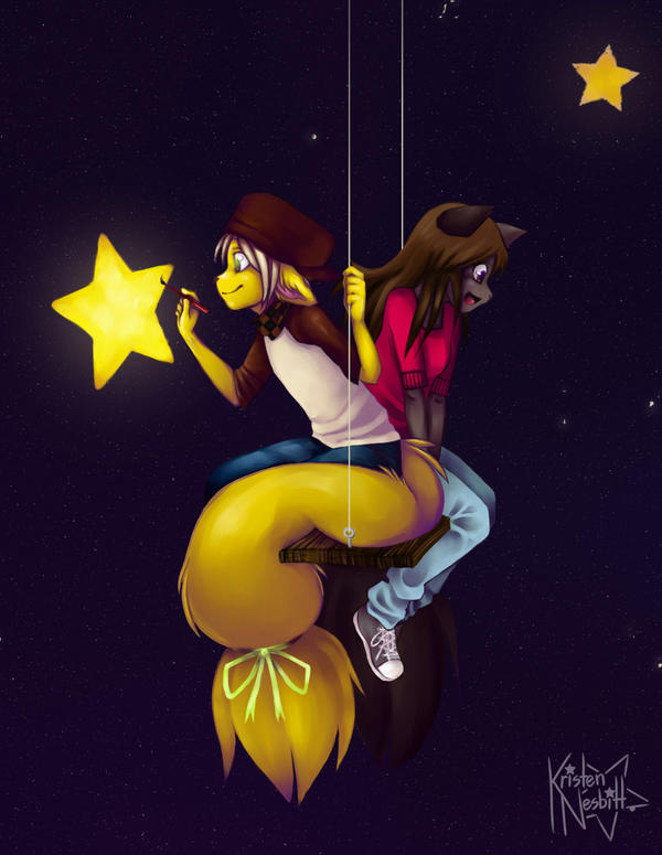 Among The Stars Close Up by The-kat