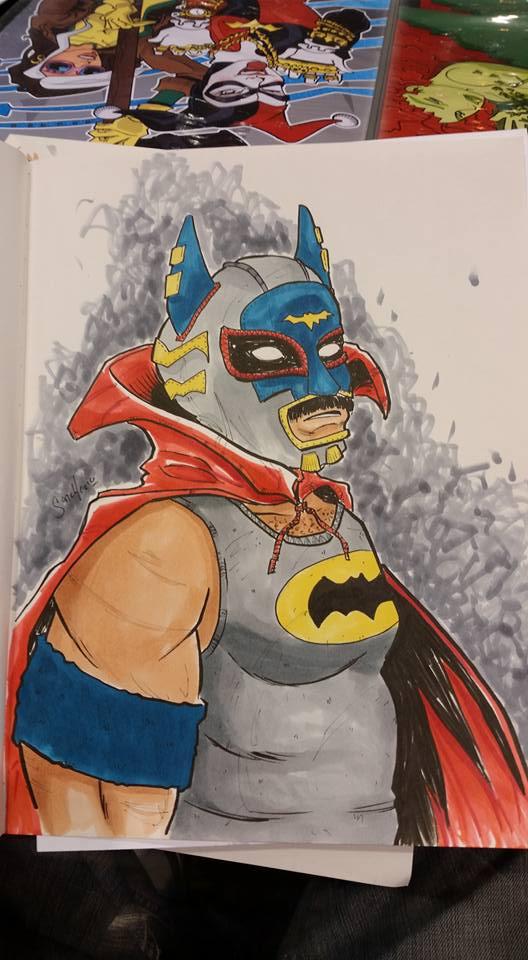 Lucha Batman by BankyStar