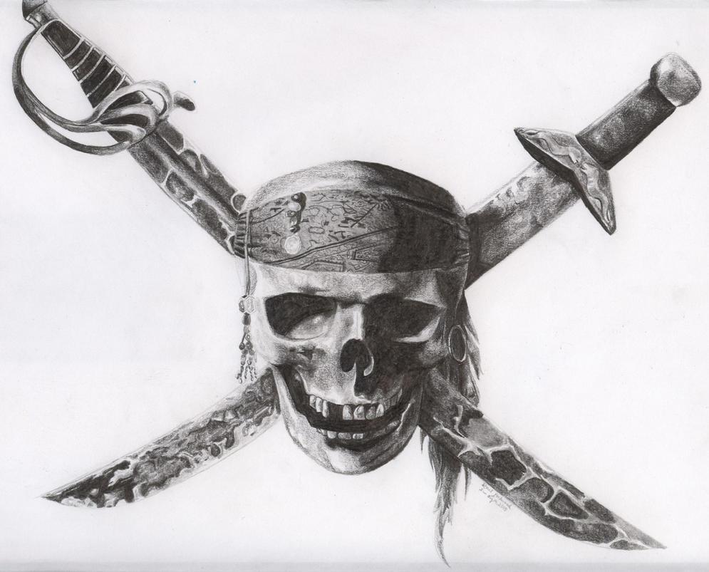 Skull and Cross Swords by raelle on DeviantArt Skull And Cross Drawing