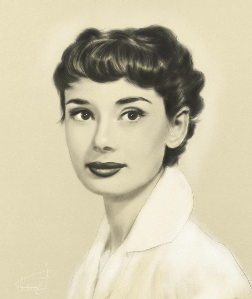 Audrey Hepburn Drawing from Life by regretsmyl