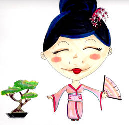 Geisha and Bonsai