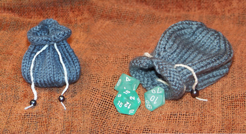 Knitted Dice Bag by Magenta-Moop on DeviantArt