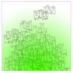 A hundred Llamas! by aszantu