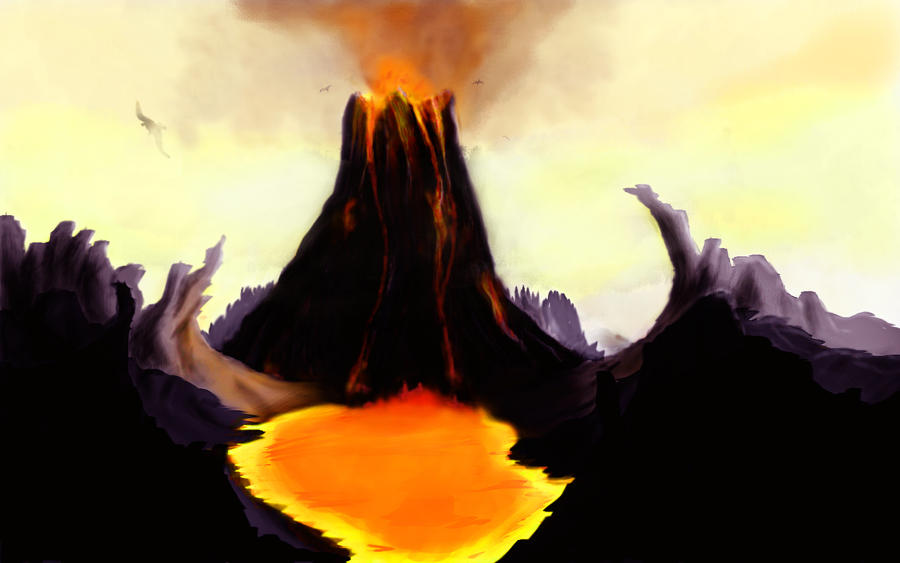 Prehistoric Volcano by ~GeneralFOL on deviantART