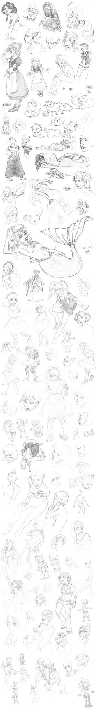 Doodle Dump 2 by shadowblackblood