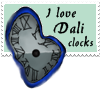 I love Dali clocks - stamp by Abstract-scientist