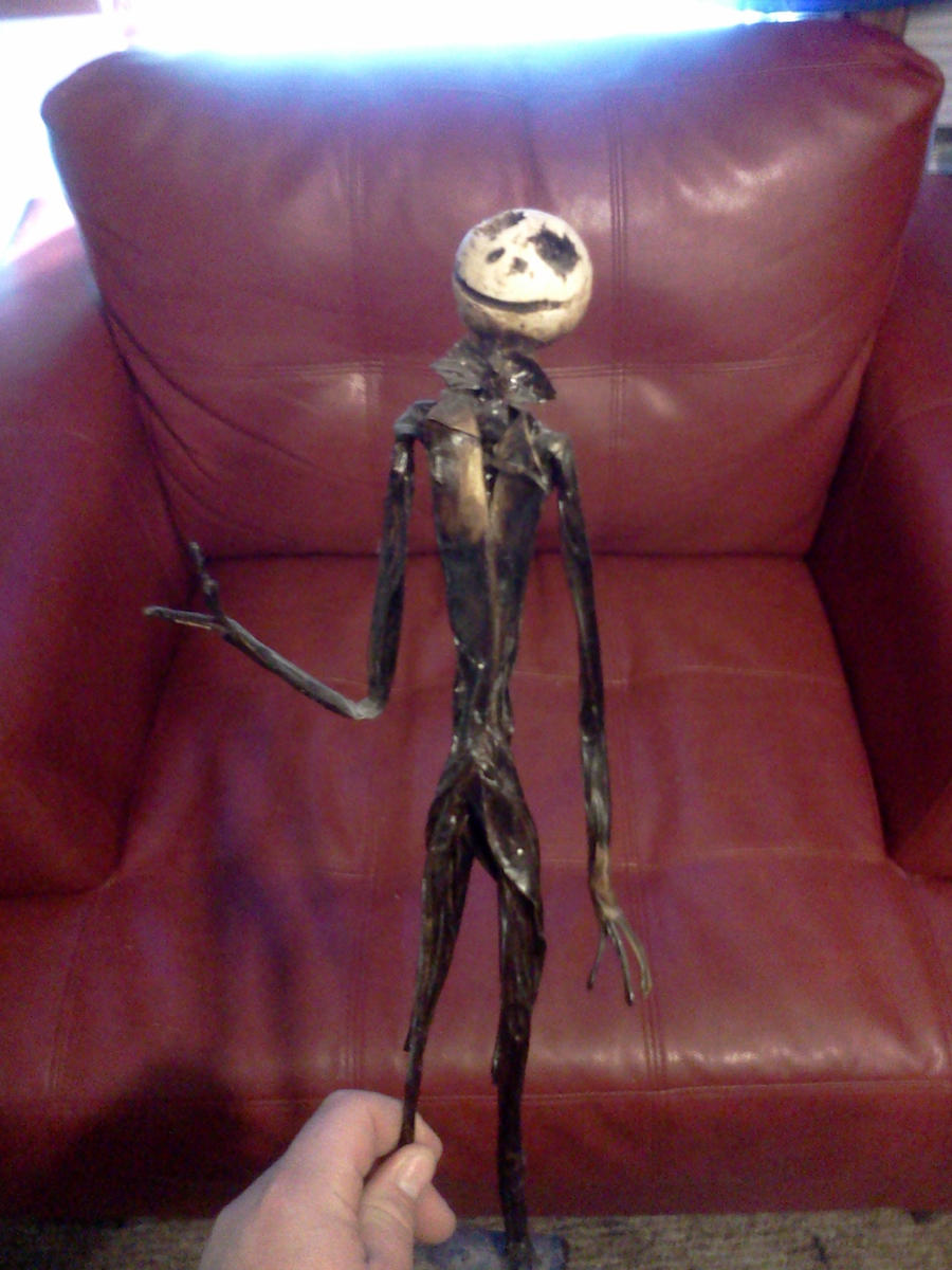 Jack skelington slenderman sculpture by glitchxhavoc on