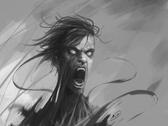 1.5hr sketch - Tangle by maskman626