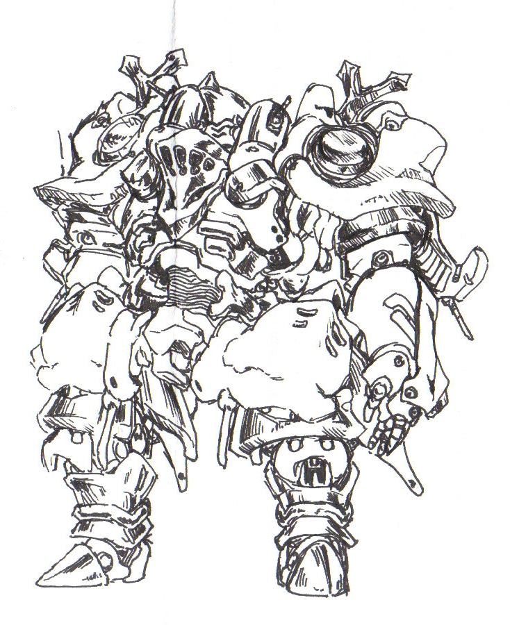 some kind of heavy mech by Rakugaki-otoko