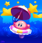 Parasol Kirby Swimming