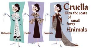 Cruella's Coats by BetterthanBunnies